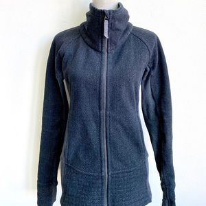 LULULEMON GREY HIGH NECK JACKET SIZE 6